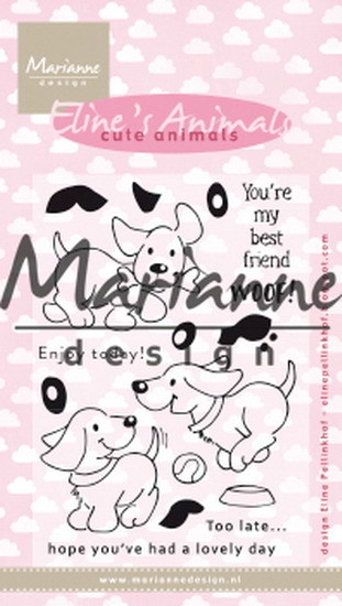 Marianne Design - Clearstamp - Eline´s cute puppies