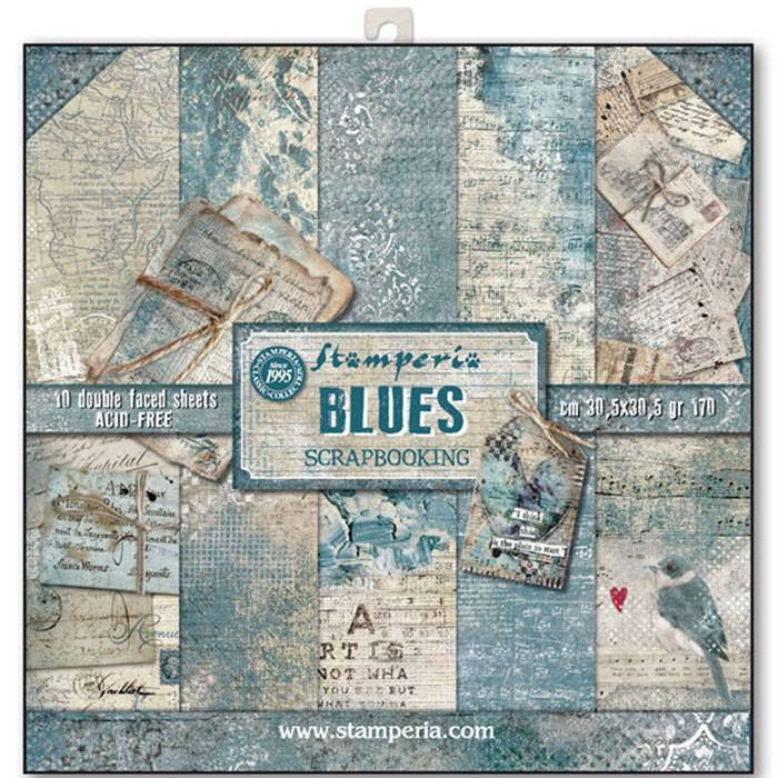 Stamperia - Paper Pack - Blues