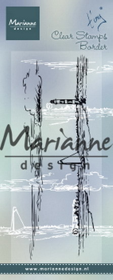 Marianne Design - Clear stamp - Tiny´s border horizon