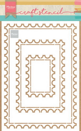 Marianne Design - Craft stencil - Post card