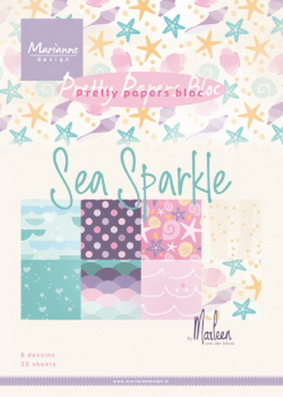 Marianne Design - Papers bloc - Sea sparkle by Marleen