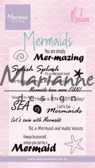 Marianne Design - Clear stamp - Mermaid sentiments by Marleen