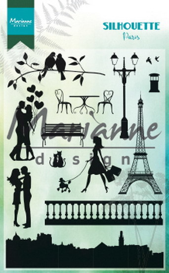 Marianne Design - Clear stamp - Silhouette - Paris