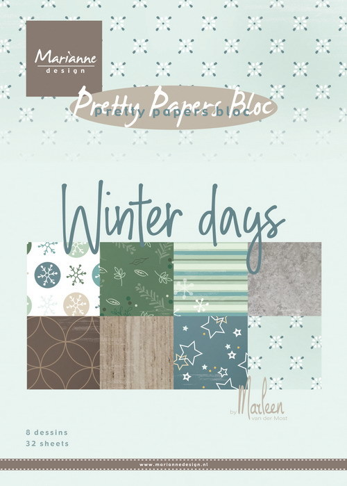 Marianne Design - Pretty papers bloc - Winter days by Marleen