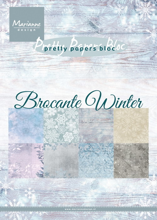 Marianne Design - Pretty papers bloc - Brocante winter