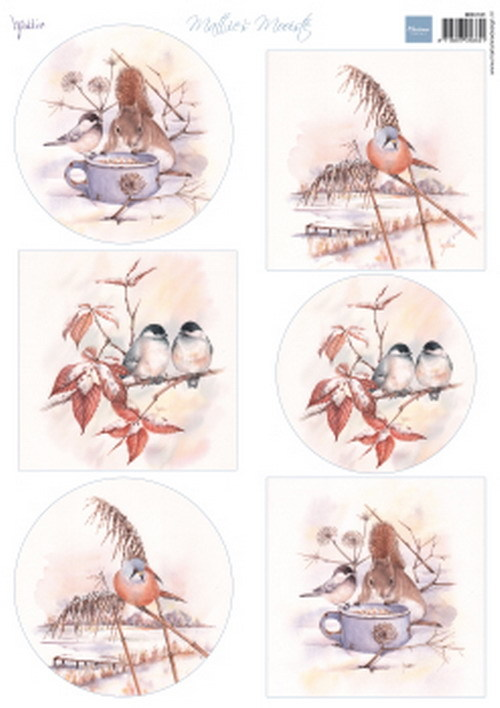 Marianne Design - Mattie's mooiste - Winter birds