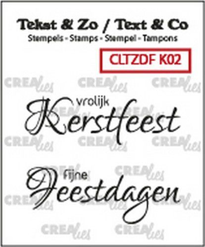 Crealies Clearstamp - Vrolijk Kerstfeest