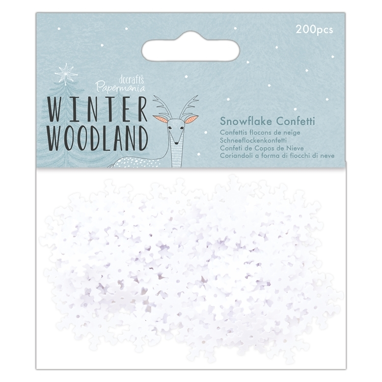 Docrafts Papermania - Winter Woodland -Snowflake confetti
