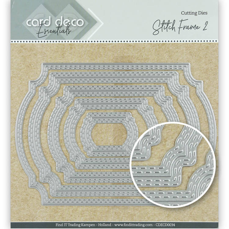 Card Deco essentials - Snijmal - Stitch frame 2