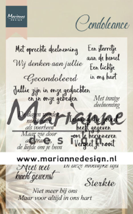 Marianne Design - Clear stamp - Condoleance