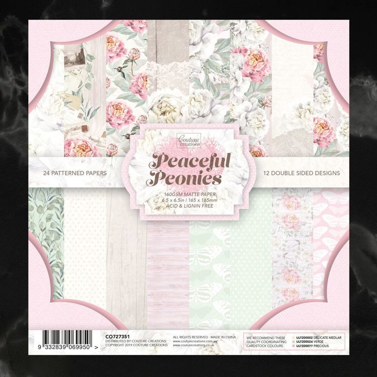 Couture Creations - Paper pad  - Peaceful Peonies