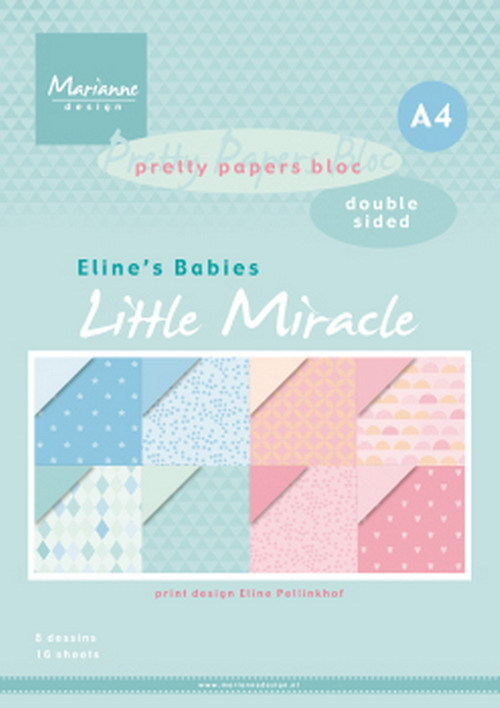 Marianne Design - Pretty papers bloc - Eline's babies - Little miracles
