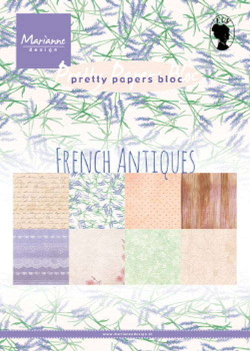 Marianne Design - Pretty papers bloc - French Antiques