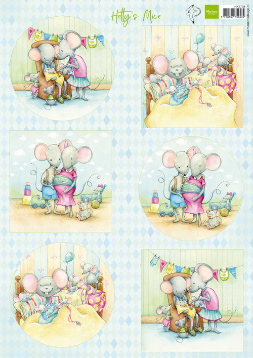Marianne Design - Knipvel - Hetty´s mice newborn