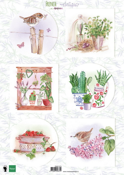 Marianne Design - Knipvel - French antique - Herbs