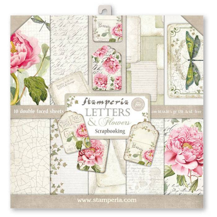 Stamperia - Paper Pack - Letters & Flowers