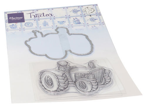 Marianne Design - Clear stamp - Hetty's dutch tractor