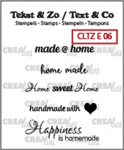 Crealies - stempel - Text home (ENG)