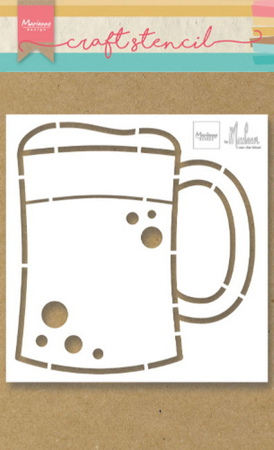 Marianne Design - Craft stencil - Beer mug