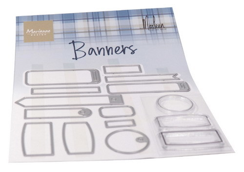 Marianne Design - Clear stamp - Banners by Marleen
