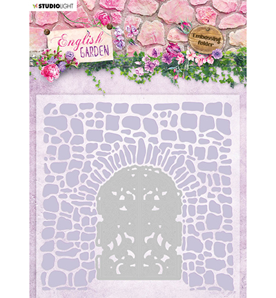 Studio Light - Embossing folder with die cut - English garden 03