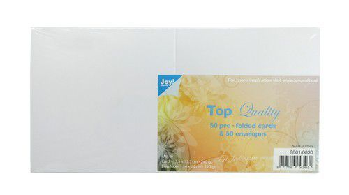 Joy! Crafts - Top Quality - Kaarten en enveloppen - Wit