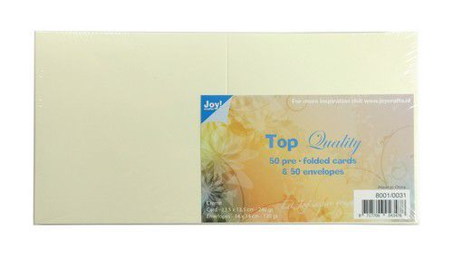 Joy! Crafts - Top Quality - Kaarten en enveloppen - Creme