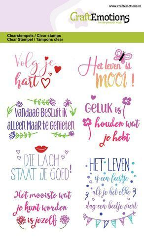Craft Emotions - Clearstamp - Volg je hart
