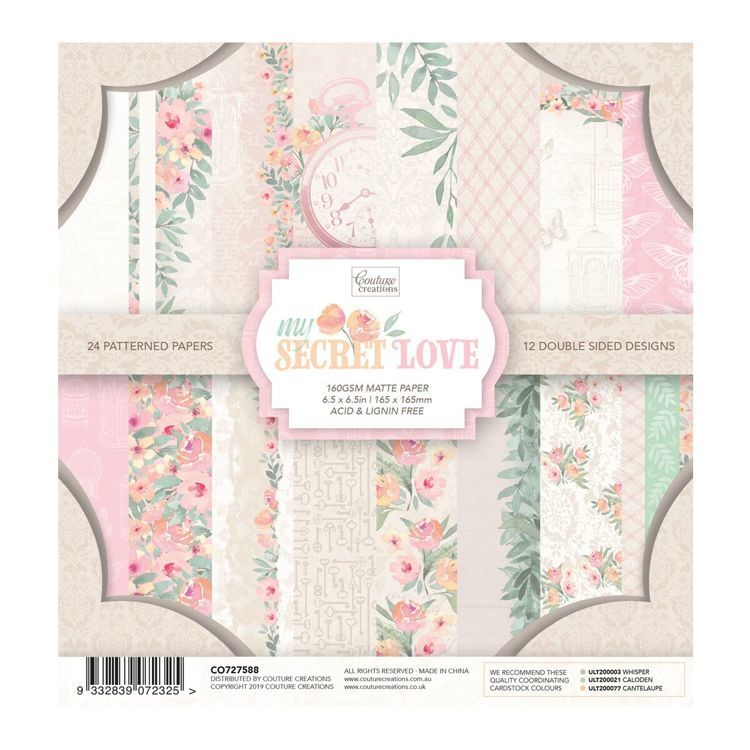 Couture creations  - Paper pad - My secret love