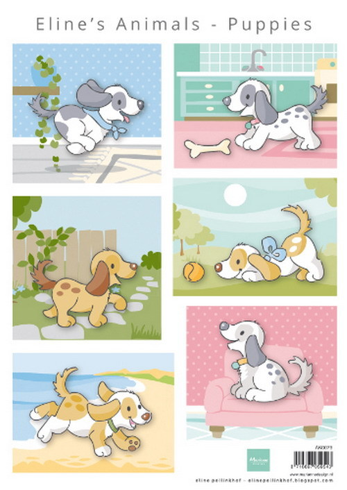 Marianne Design - Knipvel - Eline's animals puppies