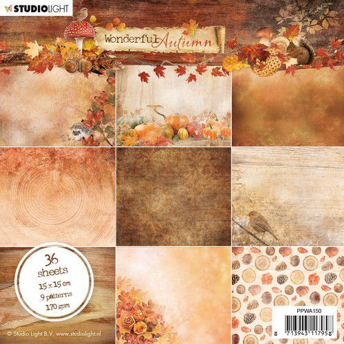 Studio Light - Paper pad - Wonderful Autumn - nr. 150