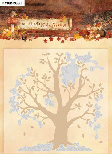 Studio Light - Embossing folder with die cut - Wonderful Autumn - Nr. 05