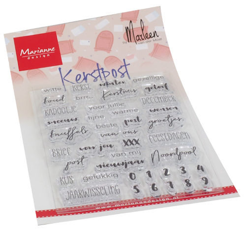 Marianne Design - Clear stamp Kerst post
