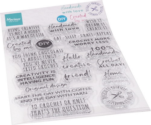 Marianne Design - Clear stamp - Crafting sentiments