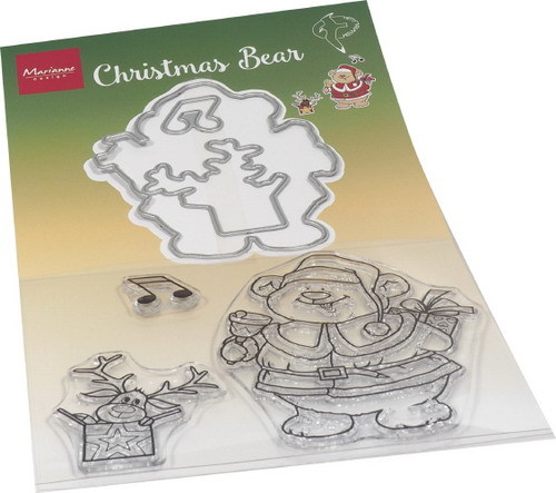 Marianne Design - Clear stamp + die set - Hetty's christmas bear