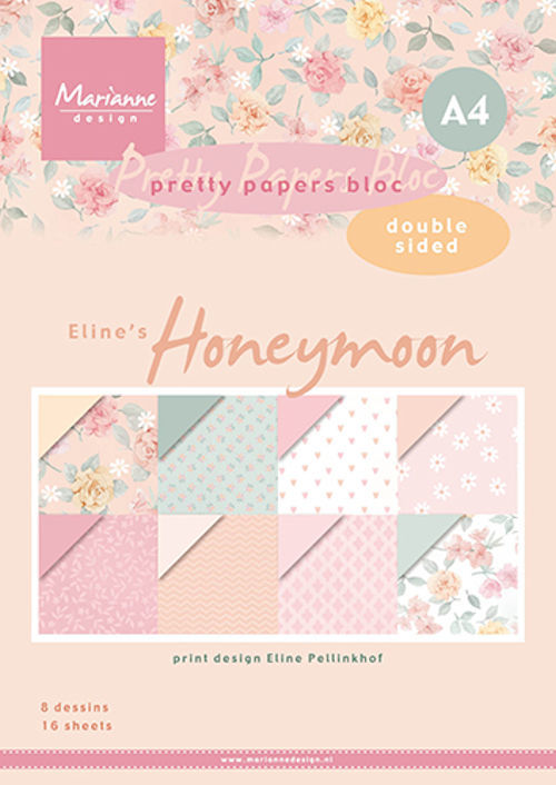 Marianne Design - Pretty papers bloc - Eline's Honeymoon