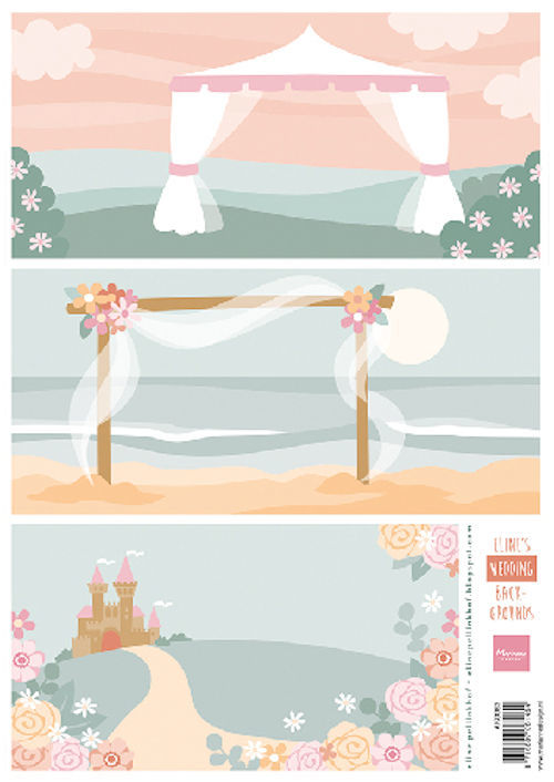 Marianne Design - Knipvel - Eline's backgrounds - Wedding