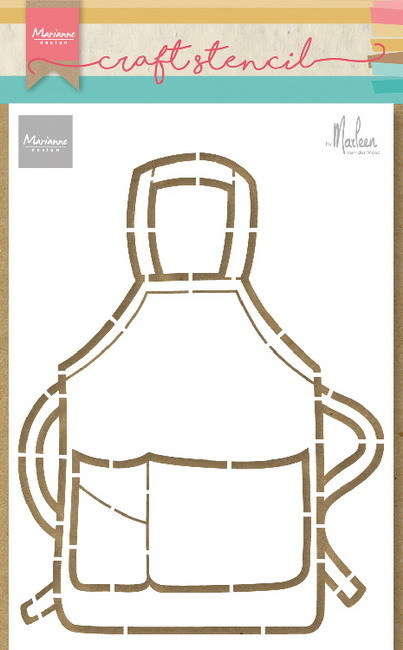 Marianne Design - Craft stencil - Apron
