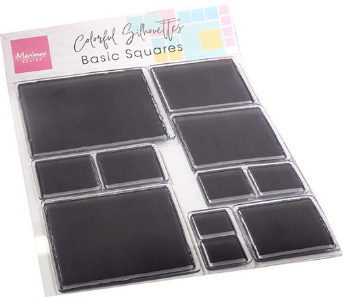 Marianne Design - Clear stamp - Colourful silhouette basic - Square