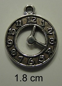 Charms 158 - Clock - Zilver