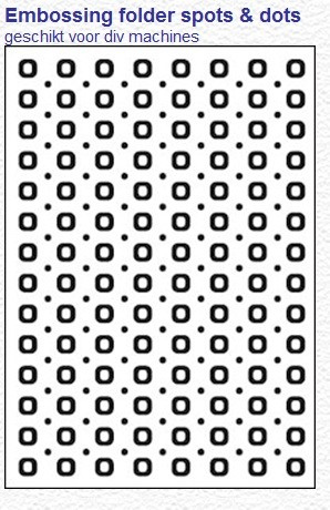 Crafts-Too - Embossing Folder - Spots & Dots
