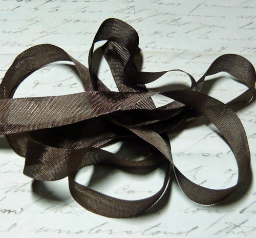Vintage Seam Binding Ribbon - Walnut