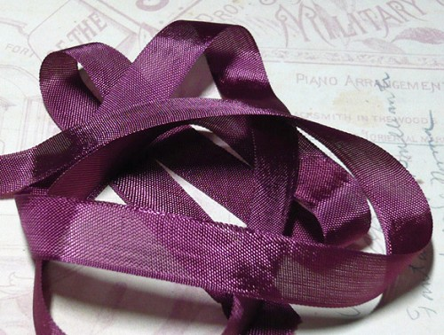 Vintage Seam Binding Ribbon - Bordeaux Wine