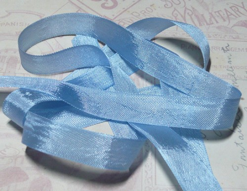 Vintage Seam Binding Ribbon - Queen Blue