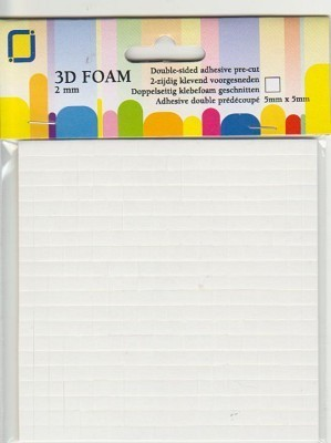 3D Foam Pads 2mm.
