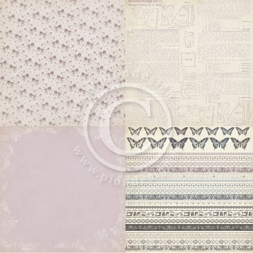 Pion Design - Purple wallpaper - Alma`s Sewing Room