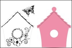 Marianne Design - Collectables - Birdhouse Flowers