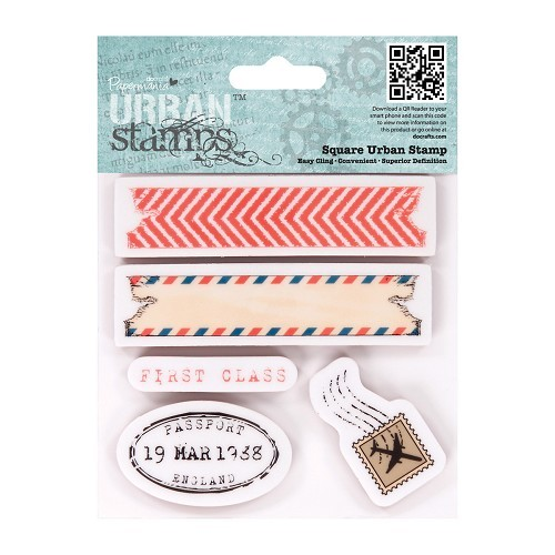 Papermania - Urban Stamp - All Aboard - Air Mail