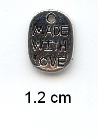 Charms 193 - Made with love - Zilver