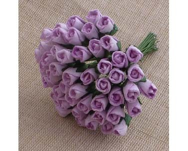 Mulberry paper Closed Rose Buds - Lilac